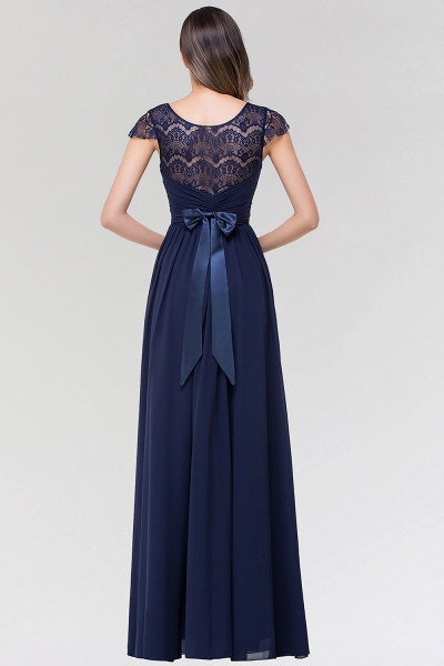 Elegant A-Line Chiffon Lace Scoop Sleeveless Ruffles Floor-Length Bridesmaid Dress with beadworks_2