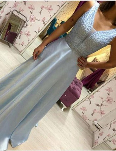 Fabulous V-neck Chiffon A-line Prom Dress_4