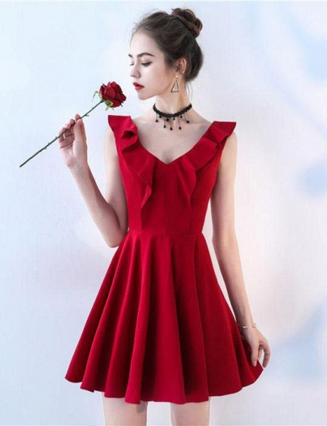 Fascinating Straps A-line Homecoming Dress_4
