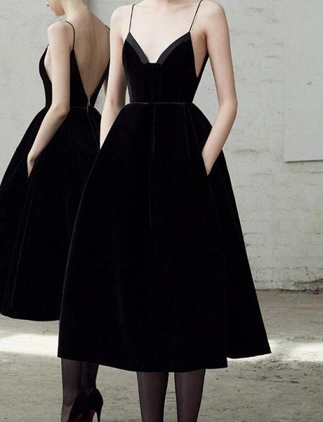 Elegant Spaghetti Straps A-line Homecoming Dress_2