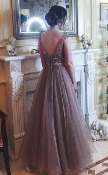 Elegant Tulle A-line Prom Dress_1