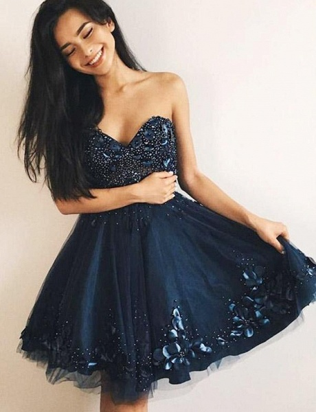 Excellent Sweetheart A-line Cocktail Dress_1