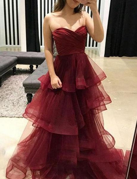 Attractive Sweetheart Organza A-line Evening Dress_3
