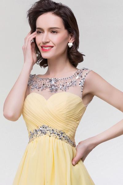 A-Line Chiffon Sweetheart Sleeveless Ruffles Mini Bridesmaid Dress with Beading_6