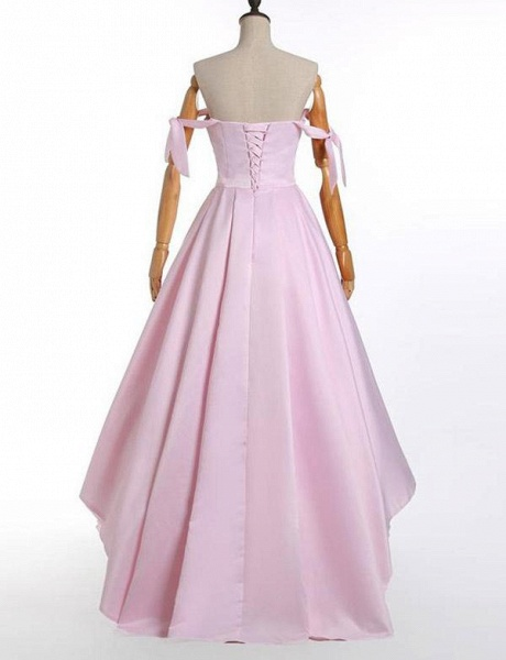 Fashion Tiered A-Line Sweetheart Off-the-Shoulder High Low Prom Dress_5
