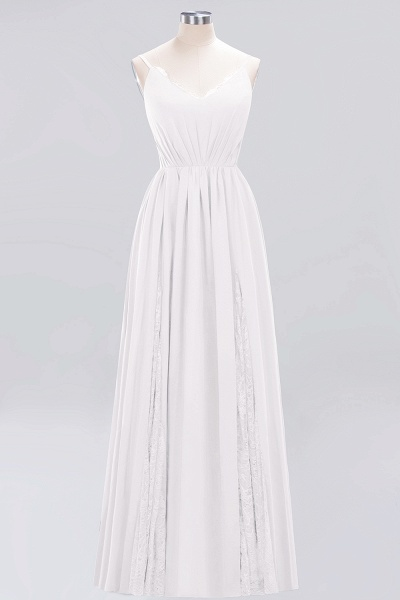 BM0213 A-Line Chiffon V-Neck Spaghetti Straps Long Bridesmaid Dress_1