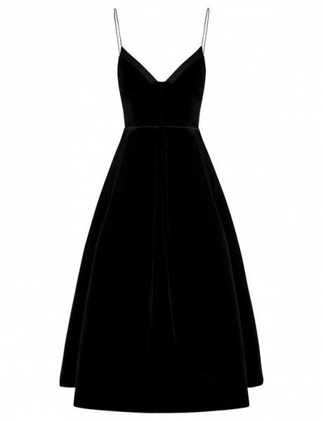 Elegant Spaghetti Straps A-line Homecoming Dress_1
