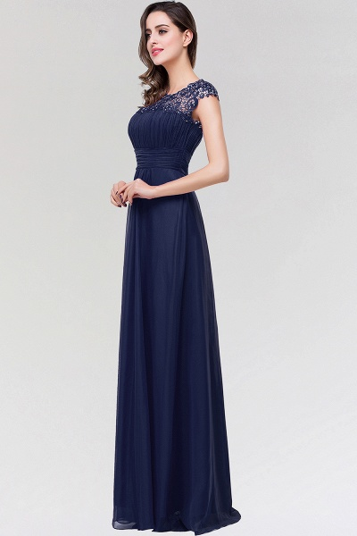 A-line Chiffon Lace Jewel Sleeveless Floor-length Bridesmaid Dresses_3