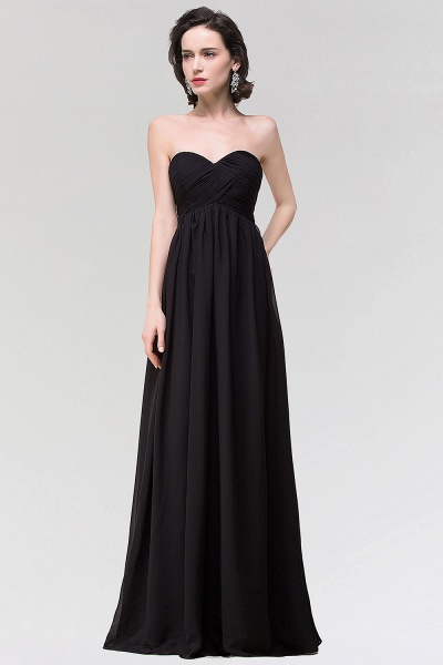 A-line Chiffon Strapless Sweetheart Sleeveless Floor-Length Bridesmaid Dress with Ruffles_1