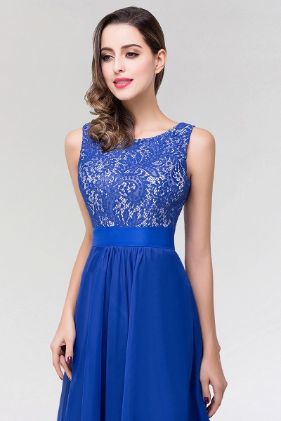 A-line Chiffon Lace Jewel Sleeveless Floor-length Bridesmaid Dresses_6