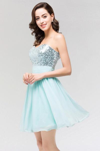 A-line Chiffon Strapless Sweetheart Sleeveless Ruffles Mini Bridesmaid Dress with Beadings_5