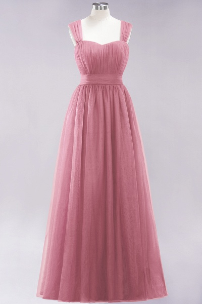 A-Line Chiffon Sweetheart Straps Sleeves Floor-Length Bridesmaid Dresses with Ruffles_6
