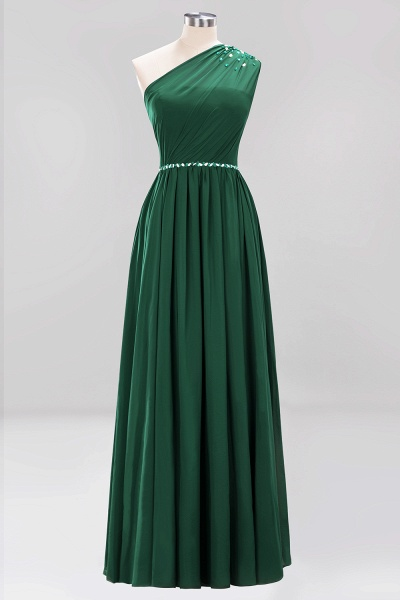 Elegant A-Line Burgundy Chiffon One-Shoulder Sleeveless Ruffles Floor-Length Bridesmaid Dresses with Beadings_30
