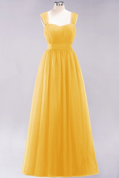 A-Line Chiffon Sweetheart Straps Sleeves Floor-Length Bridesmaid Dresses with Ruffles_16