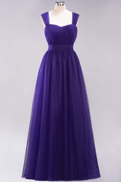A-Line Chiffon Sweetheart Straps Sleeves Floor-Length Bridesmaid Dresses with Ruffles_18