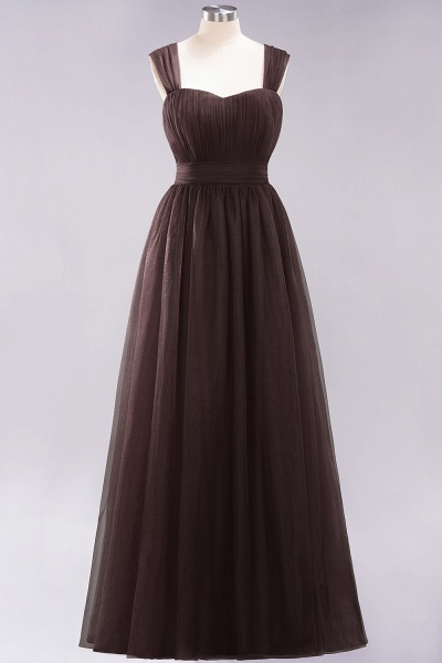 A-Line Chiffon Sweetheart Straps Sleeves Floor-Length Bridesmaid Dresses with Ruffles_11