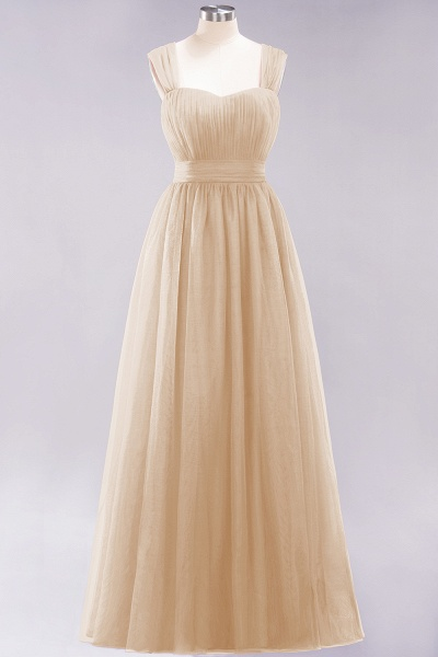 A-Line Chiffon Sweetheart Straps Sleeves Floor-Length Bridesmaid Dresses with Ruffles_14
