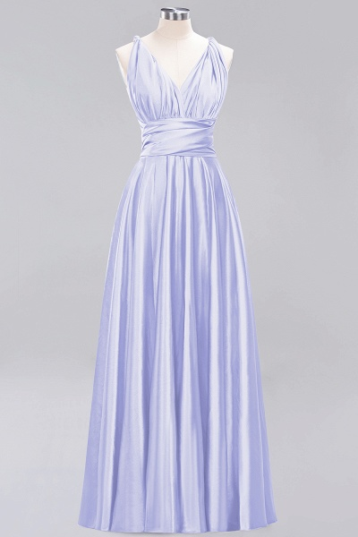 BM0143 Simple A-Line V-Neck Sleeveless Ruffles Floor Length Bridesmaid Dress_21