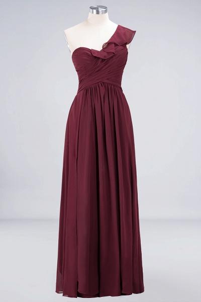 A-Line Chiffon One-Shoulder Sweetheart Sleeveless Floor-Length Bridesmaid Dress with Ruffles_9