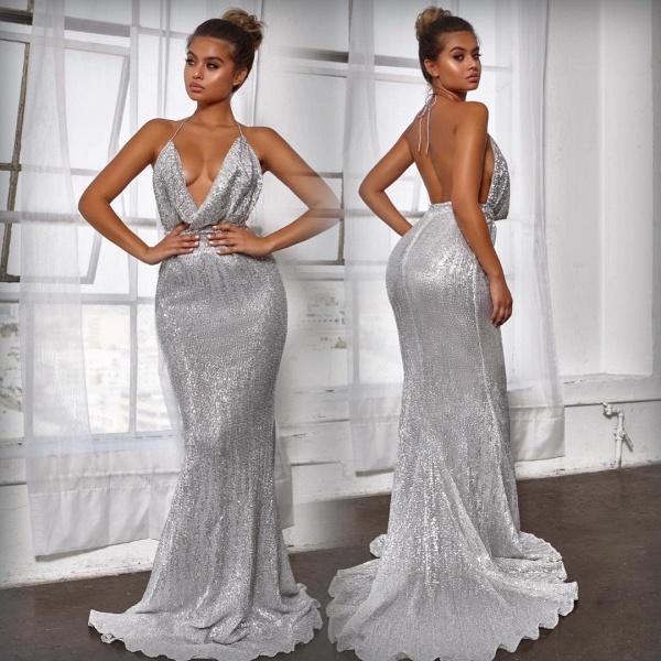 Amazing V-neck Mermaid Prom Dress_4