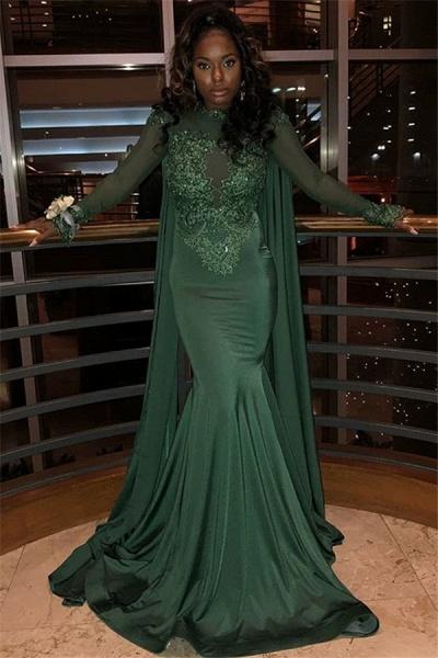 Elegant Jewel Stretch Satin Mermaid Prom Dress_1