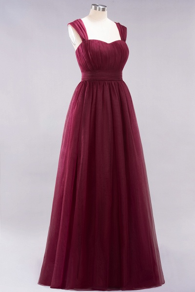 A-Line Chiffon Sweetheart Straps Sleeves Floor-Length Bridesmaid Dresses with Ruffles_39