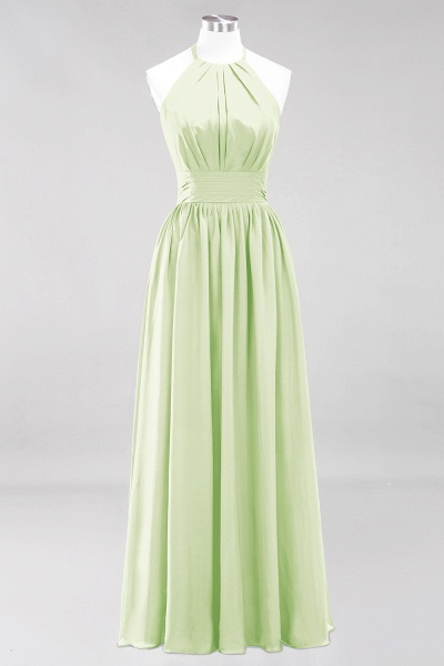 A-line Chiffon Appliques Halter Sleeveless Floor-Length Bridesmaid Dresses with Ruffles_33