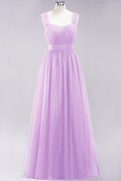 A-Line Chiffon Sweetheart Straps Sleeves Floor-Length Bridesmaid Dresses with Ruffles_20