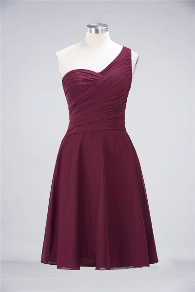 A-Line Chiffon One-Shoulder Sweetheart Sleeveless Knee-Length Bridesmaid Dress with Ruffles_43