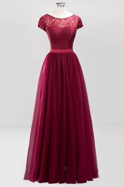 A-Line Chiffon Jewel Sleeveless Floor-Length Bridesmaid Dresses with Ruffles_9