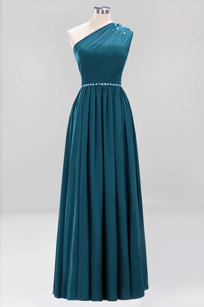 Elegant A-Line Burgundy Chiffon One-Shoulder Sleeveless Ruffles Floor-Length Bridesmaid Dresses with Beadings_26