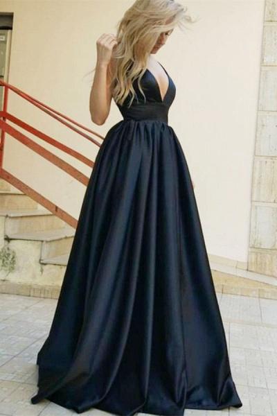 Beautiful Straps Satin A-line Prom Dress_1