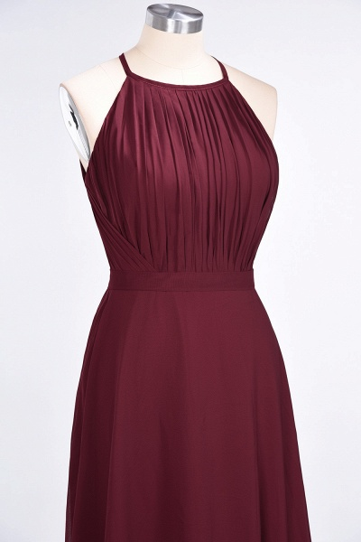 A-Line Chiffon Jewel Sleeveless Floor-Length Bridesmaid Dress with Ruffles_5