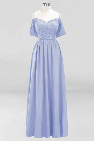 A-Line Chiffon V-Neck Spaghetti Straps Short-Sleeves Floor-Length Bridesmaid Dresses with Ruffles_21