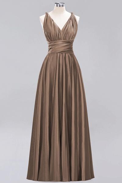 BM0143 Simple A-Line V-Neck Sleeveless Ruffles Floor Length Bridesmaid Dress_12
