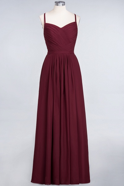 A-Line Chiffon Spaghetti-Straps Sweetheart Sleeveless Floor-Length Bridesmaid Dress with Ruffles_43