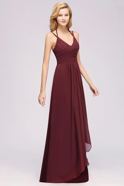 A-line Chiffon Spaghetti Straps Sleeveless Ruffles Floor-Length Bridesmaid Dresses_3