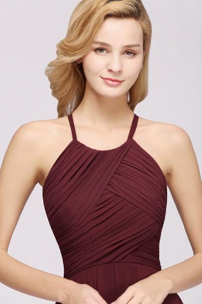 A-Line Chiffon Halter Ruffles Floor-Length Bridesmaid Dress_39