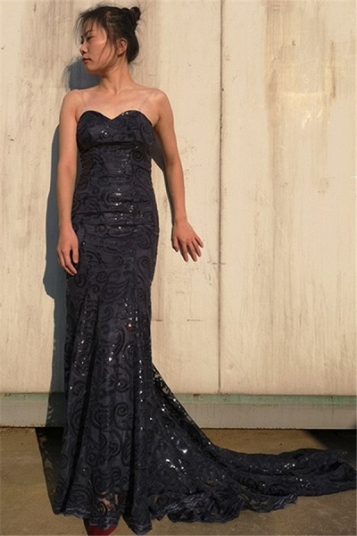 Exquisite Sweetheart Tulle Mermaid Prom Dress_1