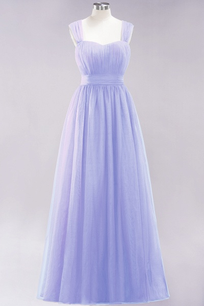 A-Line Chiffon Sweetheart Straps Sleeves Floor-Length Bridesmaid Dresses with Ruffles_21