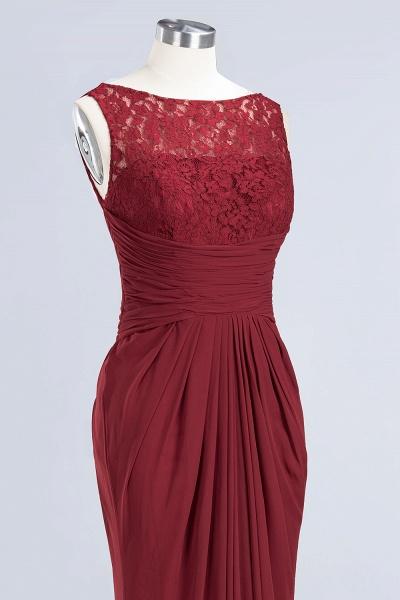 BM0058 Burgundy Chiffon Lace Scoop A-Line Ruffles Long Bridesmaid Dresses_11