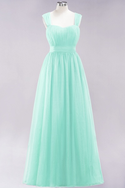A-Line Chiffon Sweetheart Straps Sleeves Floor-Length Bridesmaid Dresses with Ruffles_34