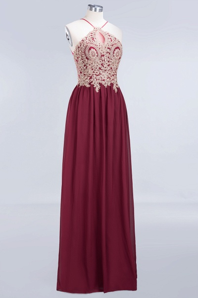 A-Line Chiffon Spaghetti-Straps Sleeveless Backless Floor-Length Bridesmaid Dress with Appliques_6