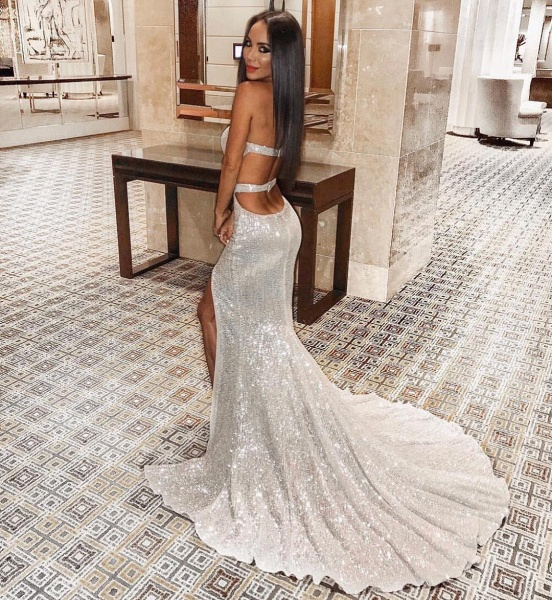 Attractive Sweetheart Sequined Mermaid Prom Dress_6