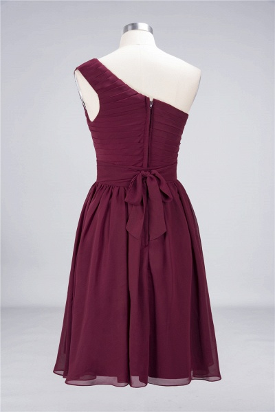 A-Line Chiffon One-Shoulder Sleeveless Knee-Length Bridesmaid Dress with Ruffles_9