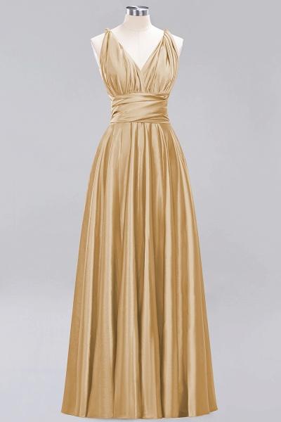 BM0143 Simple A-Line V-Neck Sleeveless Ruffles Floor Length Bridesmaid Dress_13