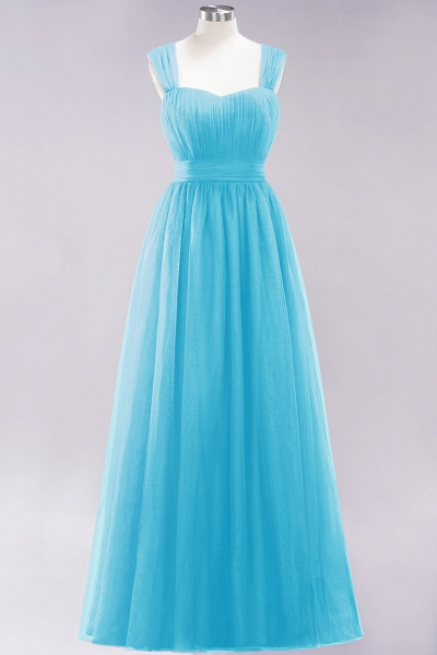 A-Line Chiffon Sweetheart Straps Sleeves Floor-Length Bridesmaid Dresses with Ruffles_23