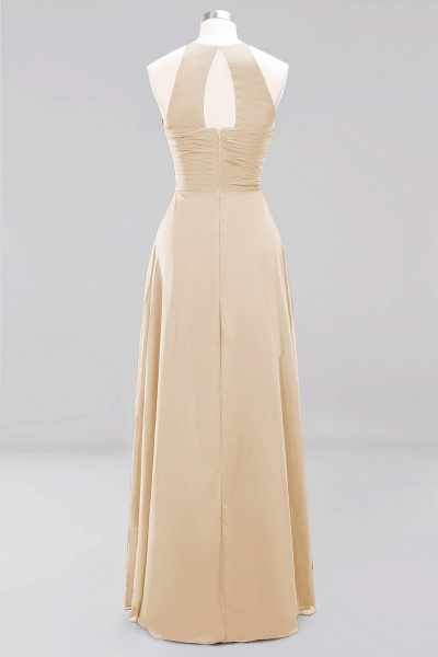 A-Line Chiffon Halter Ruffles Floor-Length Bridesmaid Dress_14