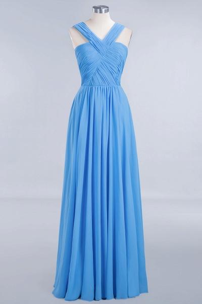 BM0048 A-Line Chiffon Straps Sleeveless Ruffles Floor Length Bridesmaid Dresses_7