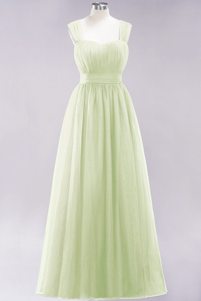 A-Line Chiffon Sweetheart Straps Sleeves Floor-Length Bridesmaid Dresses with Ruffles_33